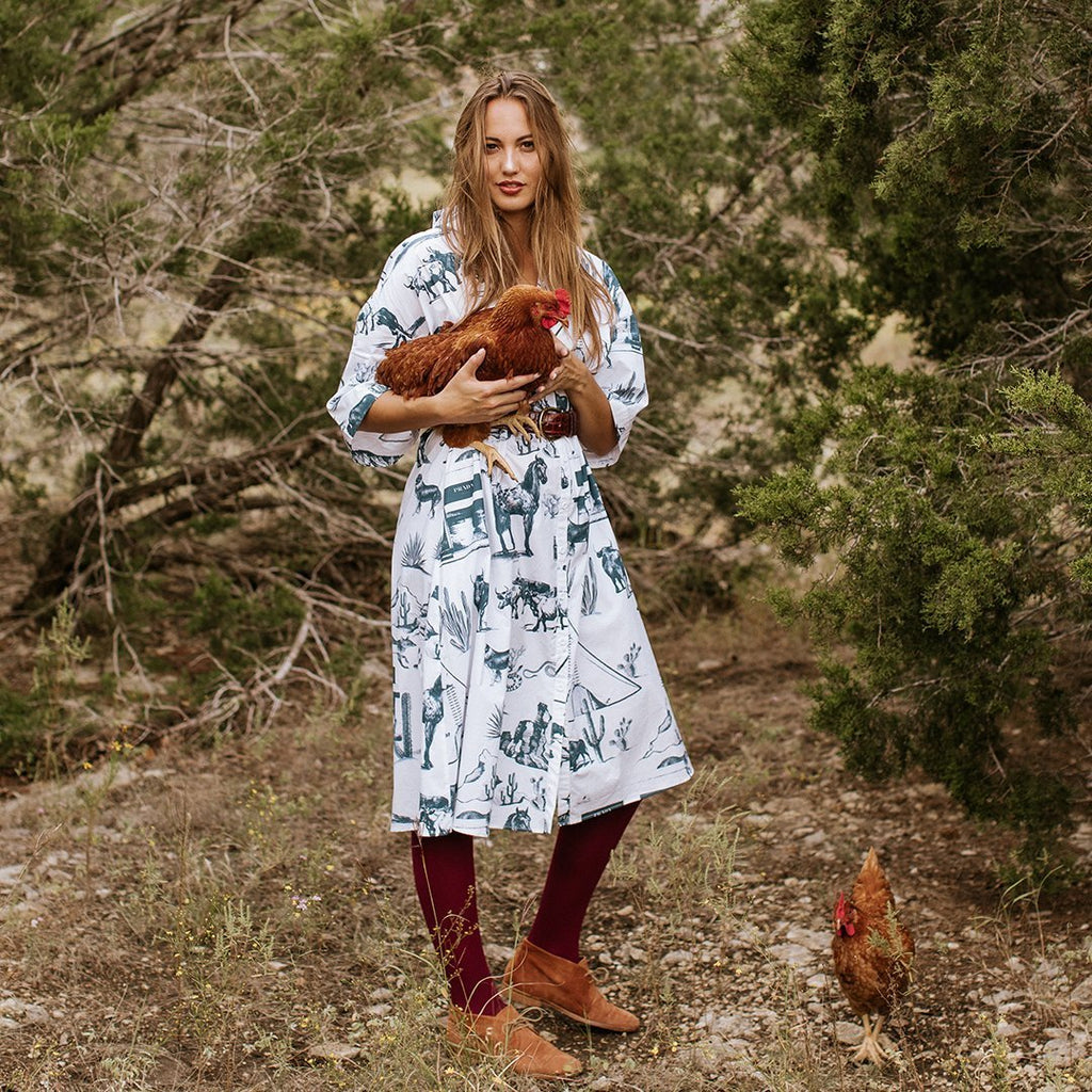Marfa Toile Midi Shirtdress