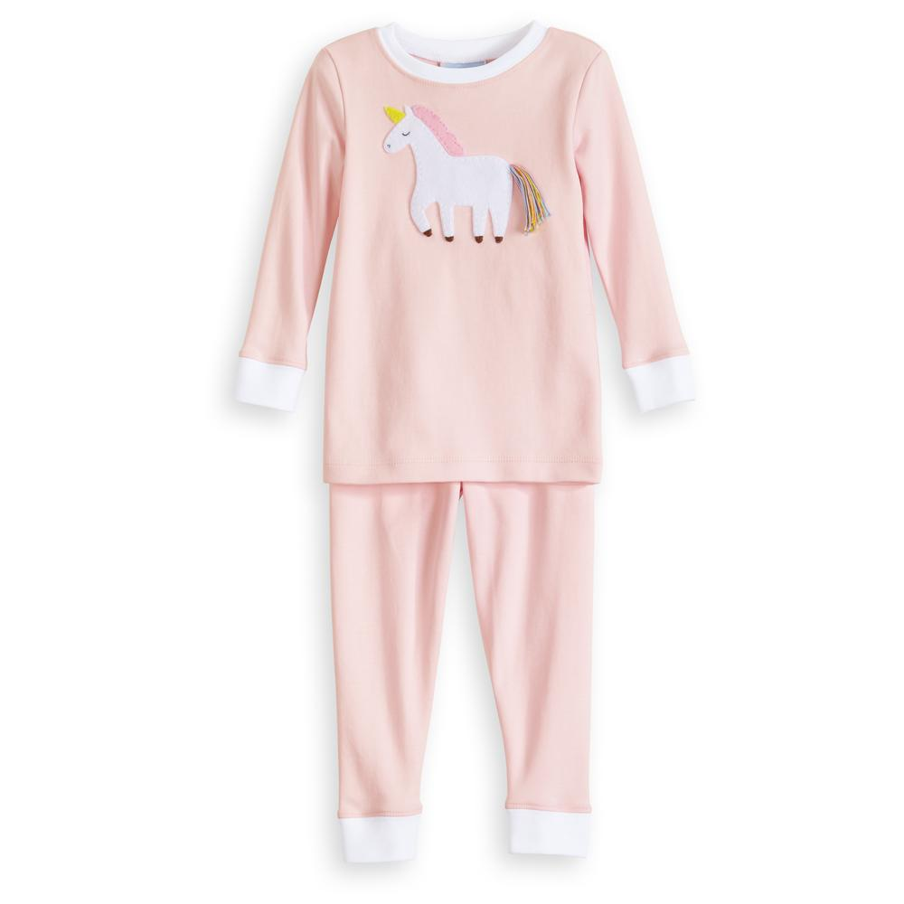 Unicorn Applique Pima Jammies