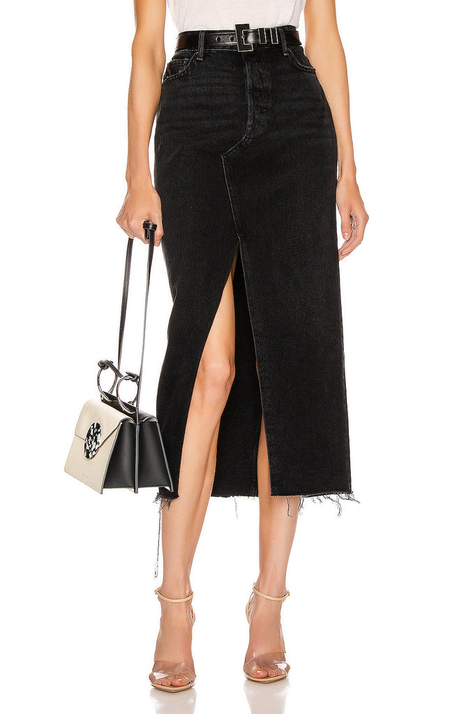 Isla High Rise Midi Skirt