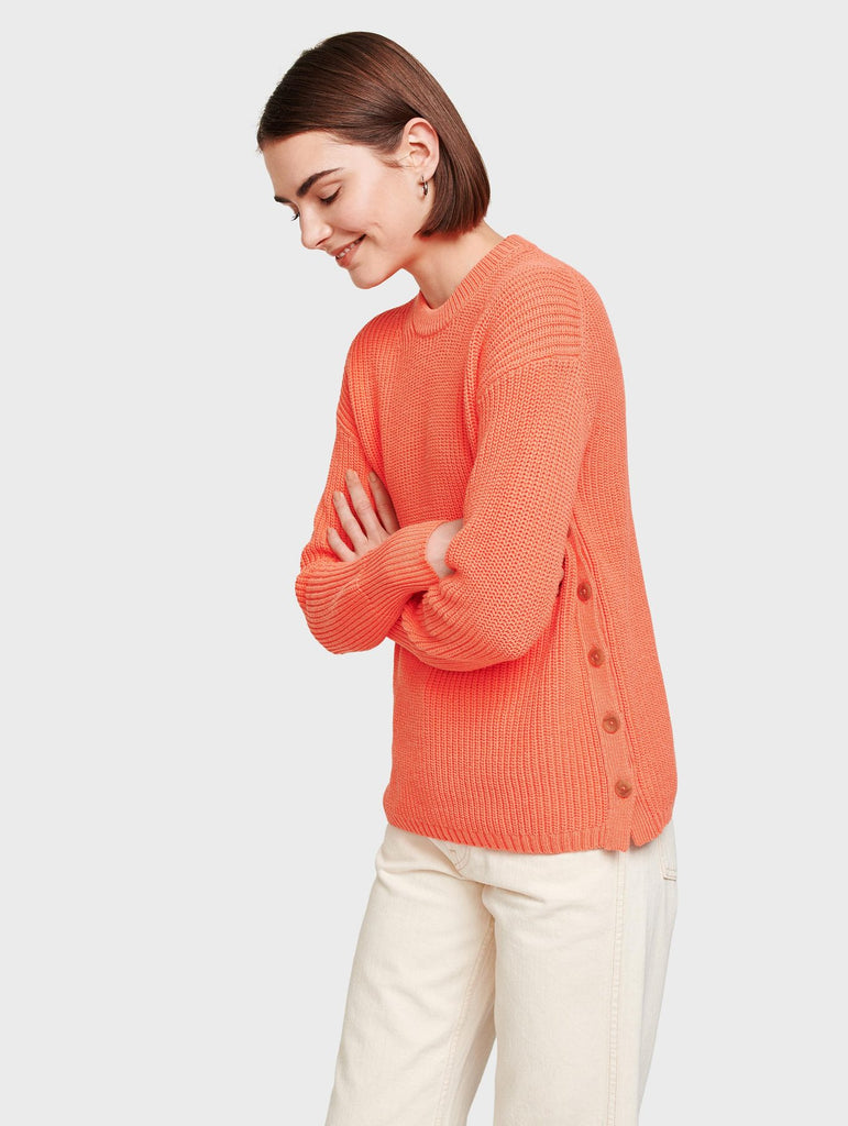 Side Button Ribbed Tunic