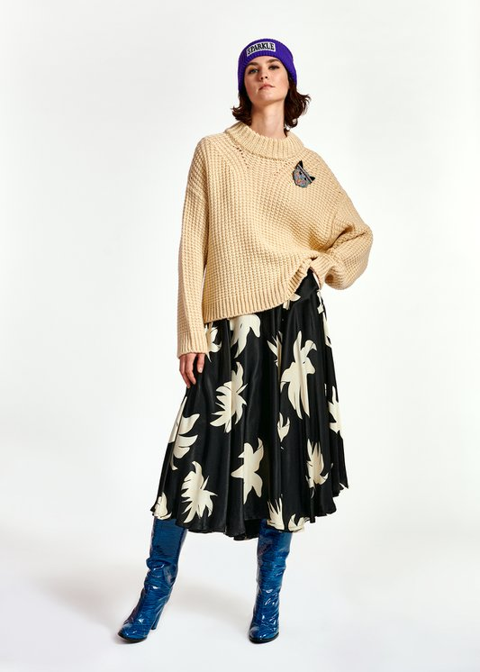 Wod Mid Length Circle Skirt