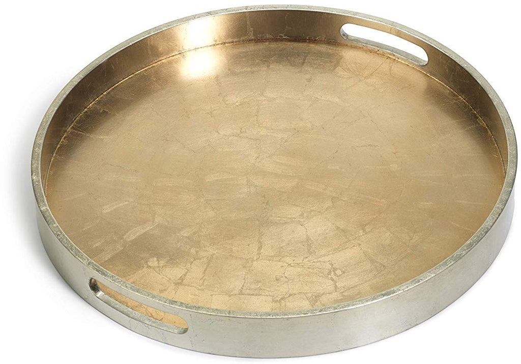 Round Gold/Silver Serving Tray