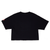 Kissy Crop Tee - Black