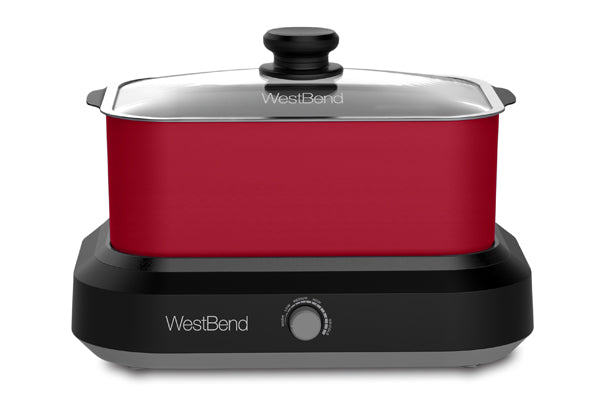 west-bend 5 Qt. Oblong Slow Cooker with Tote, Red Cooking.