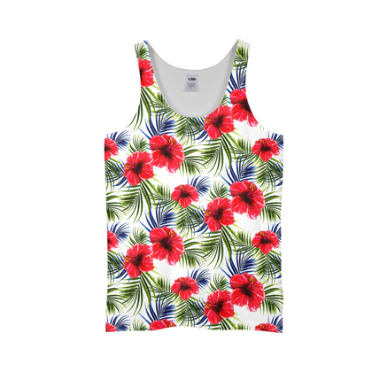 Red Hibiscus MENS ALL-OVER PRINT TANK TOP