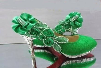 Beautiful Glitter Wedding Crystal High Heels