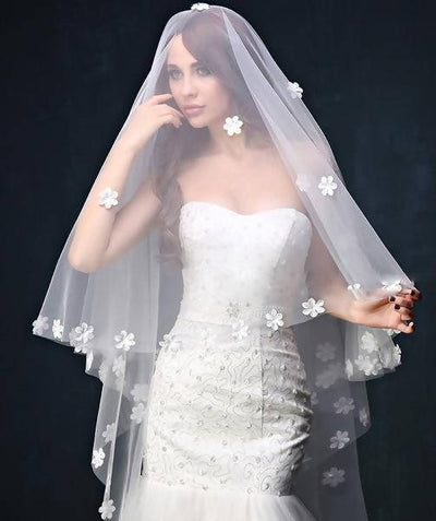 Bridal Veil With Wedding Comb Accessories