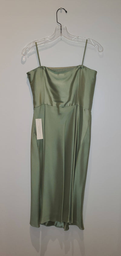 Sassy Green Silk Dress