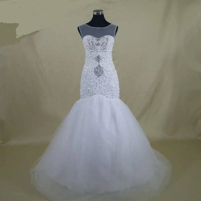 Full Luxury Beaded Mermaid Wedding Dress