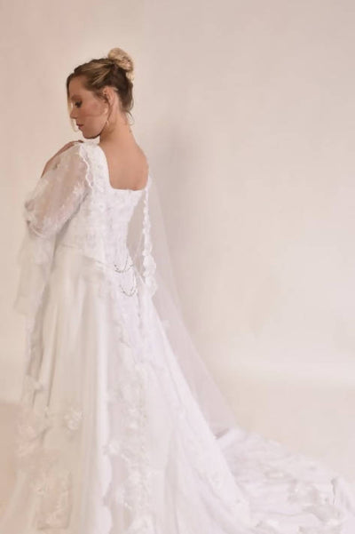 Wedding veil cape