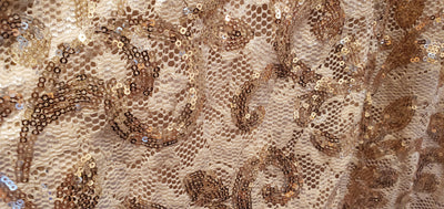 Gold Sequined Dresss