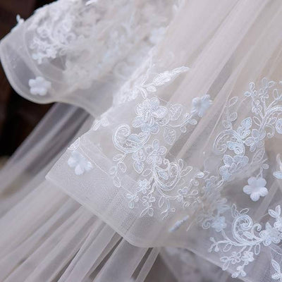 White 3M Wide Long Cathedral Veil With Comb Wedding