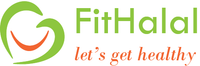 Company Name, which is FitHalal. Company Logo and tagline, which is let's get healthy.