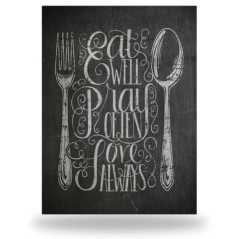 Eat Well Pray Often (8x10)