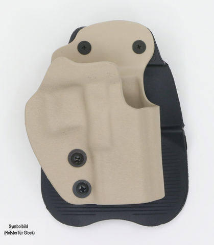 Frontline Open Top Polymer Paddle Holster TAN  Swiss Tactical Center - Swiss Tactical Center