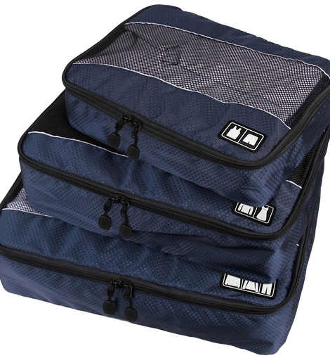Arcenciel Foldable 3 Piece Travel Packing Cubes Set Luggage Organizer Bags