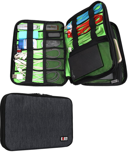 Bubm Universal Double Layer Travel Gear Organizer