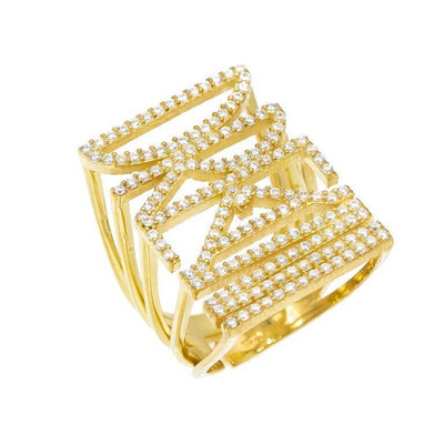 CZ Phrase Ring Gold / DREAM | Urban Accessories NYC