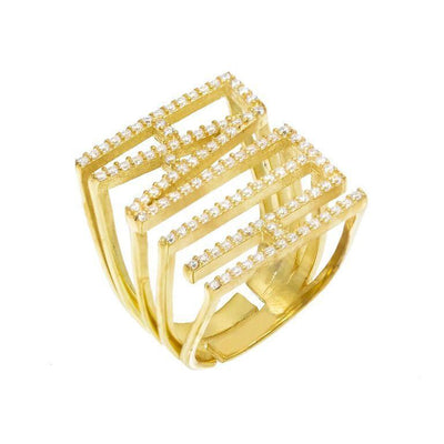 CZ Phrase Ring Gold / FAITH | Urban Accessories NYC