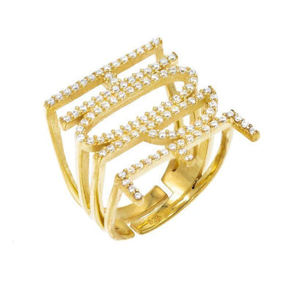 CZ Phrase Ring Gold / HOPE | Urban Accessories NYC
