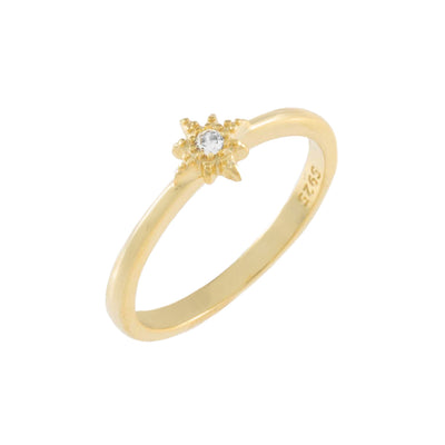 Stackable Star Gold Ring 6 | Urban Accessories NYC
