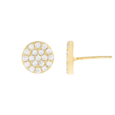 Round Pave Disc Studs  | Urban Accessories NYC