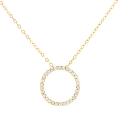 Open Circle Pave Necklace  | Urban Accessories NYC