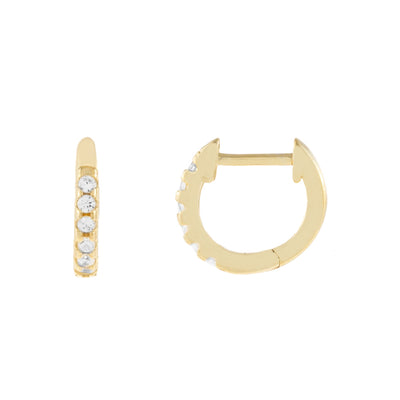 Pave Huggie Hoop Earrings  | Urban Accessories NYC