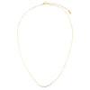 CZ Stones Curved Necklace  | Urban Accessories NYC