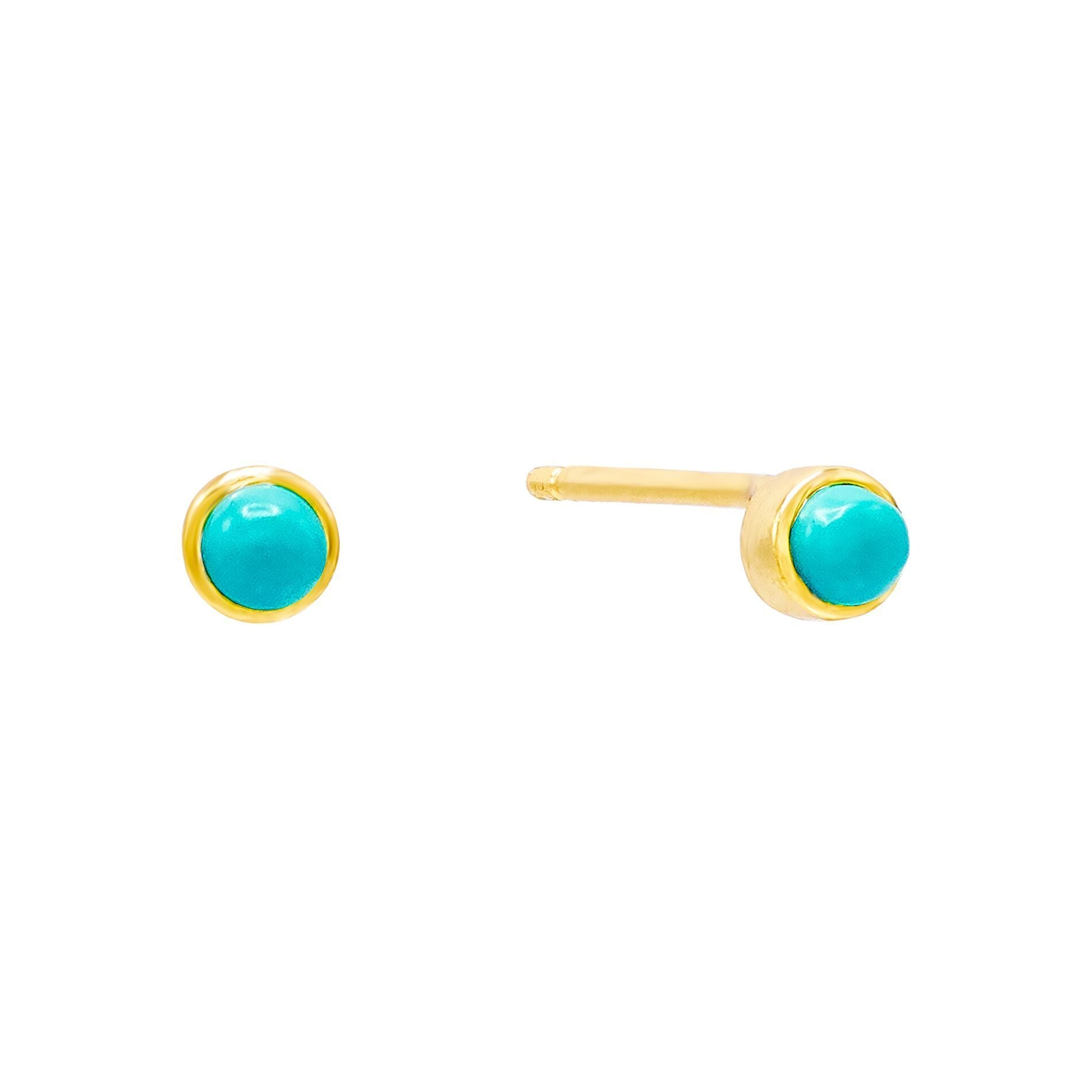 Turquoise Stone Stud Earring Turquoise | Urban Accessories NYC