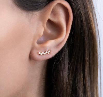 CZ Ear Climber  | Urban Accessories NYC