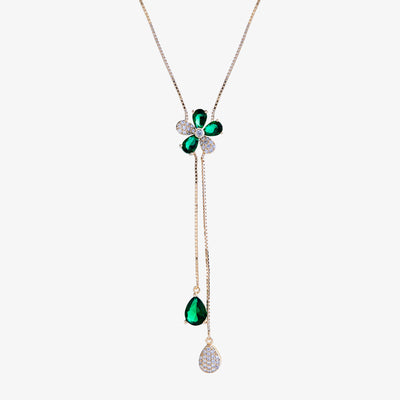Flower Lariat Necklace  | Urban Accessories NYC