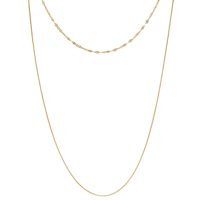 Double Layer Chain Necklace Gold | Urban Accessories NYC