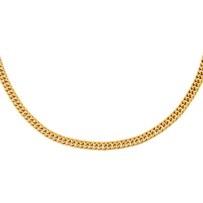 Double Curb Chain Necklace Gold | Urban Accessories NYC