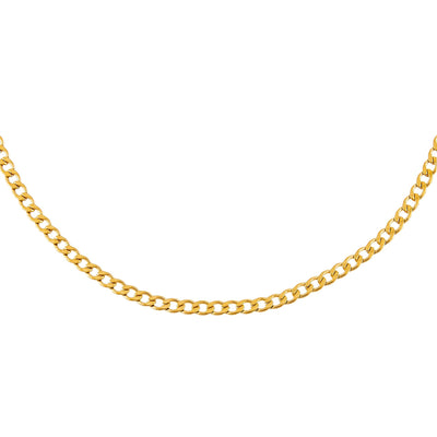 Thin Cuban Chain Necklace Gold | Urban Accessories NYC