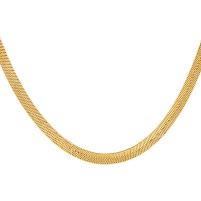 Thick Herringbone Necklace Gold | Urban Accessories NYC