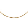 Rope Chain Necklace Gold / 15.75"