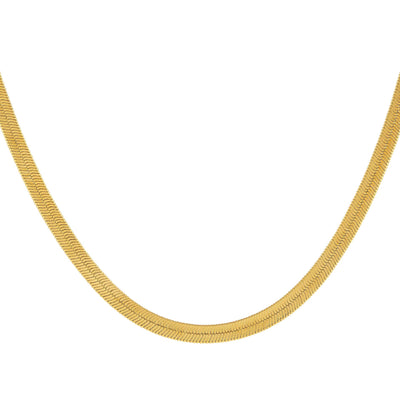 Herringbone Necklace Gold / 16"