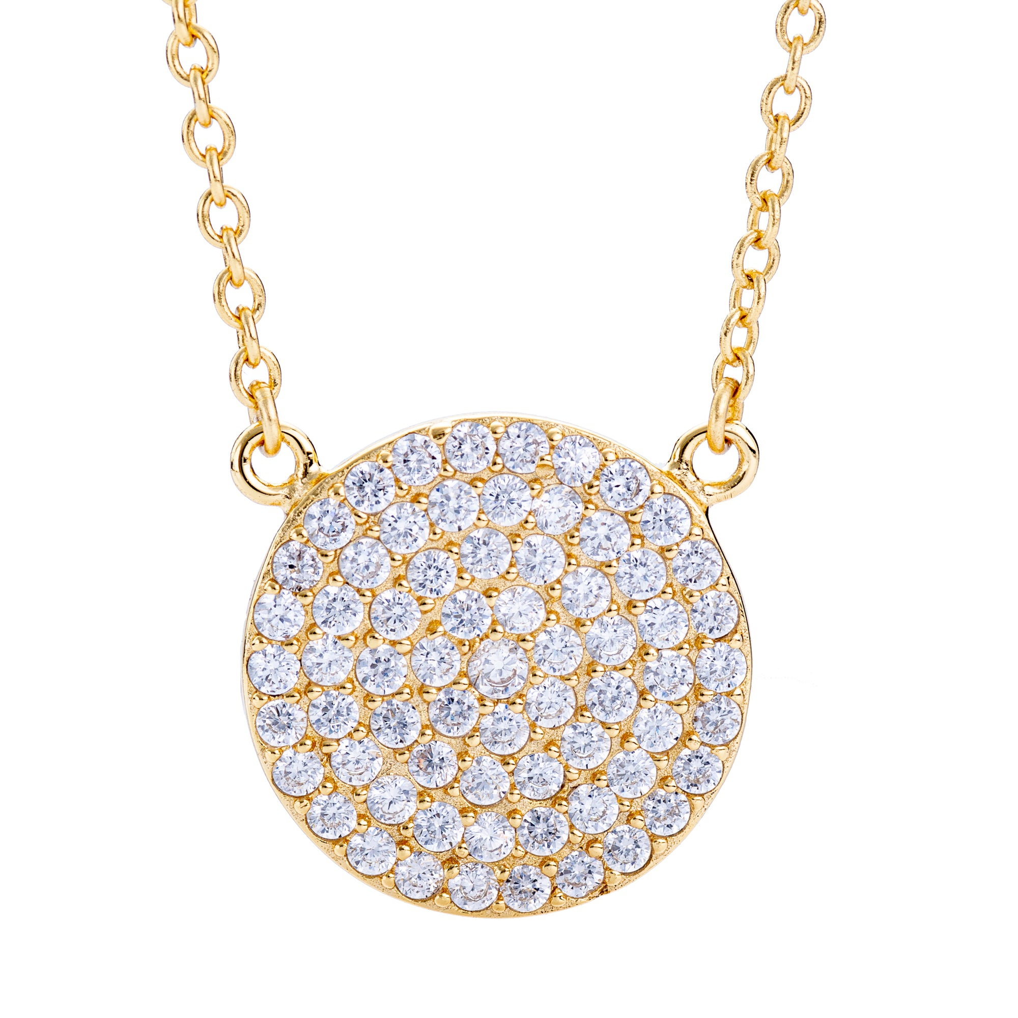 CZ Circle Necklace Gold | Urban Accessories NYC