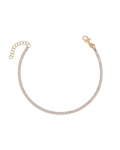 Tennis Bracelet Gold | Urban Accessories NYC