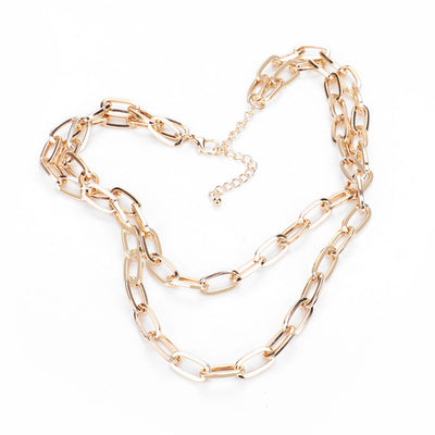 Gold Layered Chain Necklace  | Urban Accessories NYC