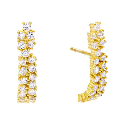 CZ Hook Stud Earring  | Urban Accessories NYC