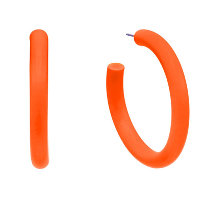 Neon Hoop Earring Neon Orange | Urban Accessories NYC