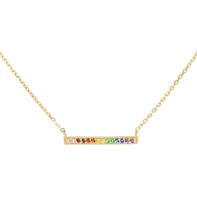 Rainbow Bar Necklace  | Urban Accessories NYC