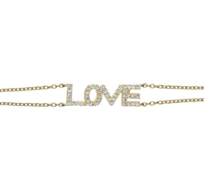 Pavé Love Choker Gold | Urban Accessories NYC