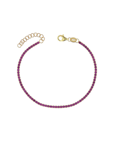 Tennis Bracelet Pink | Urban Accessories NYC