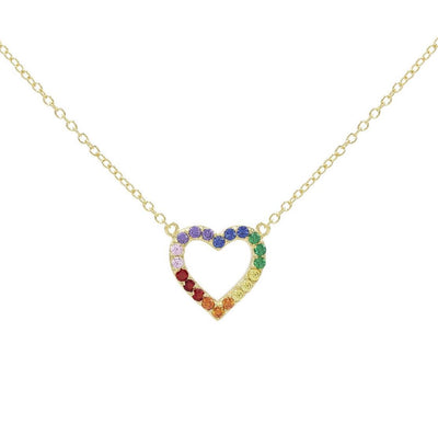 Rainbow Heart Necklace  | Urban Accessories NYC