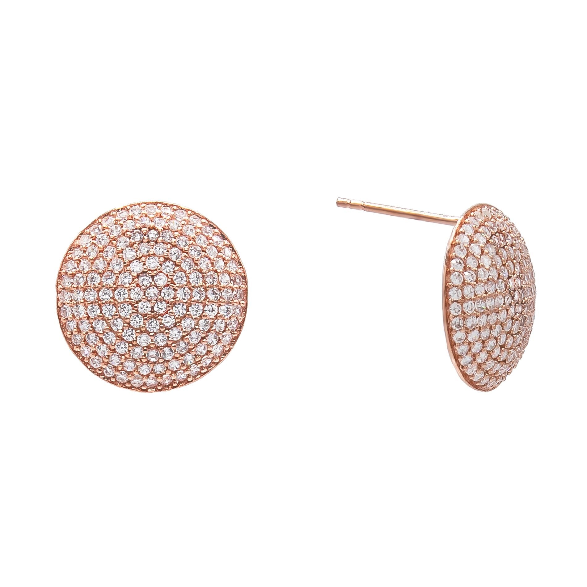 Pavé Circle Stud Earring  | Urban Accessories NYC