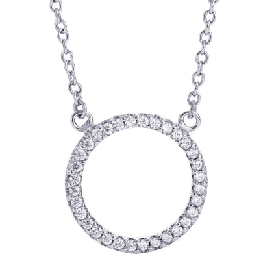 Pavé Circle Necklace Silver | Urban Accessories NYC