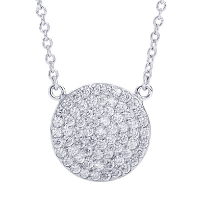 CZ Circle Necklace Silver | Urban Accessories NYC